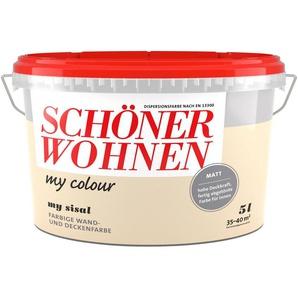 SCHÖNER WOHNEN FARBE Wand- und Deckenfarbe »my colour - my sisal«, matt, 5 l