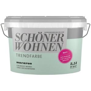 SCHÖNER WOHNEN FARBE Wand- und Deckenfarbe »Trendfarbe Macaron, matt«, 2,5 l