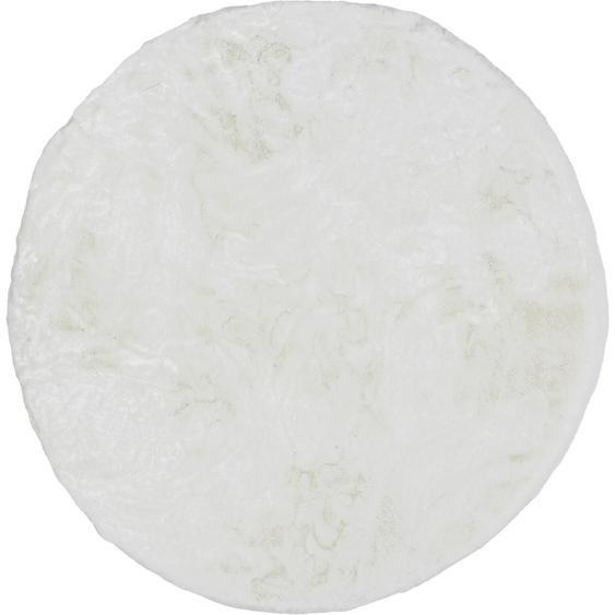 Schöner Wohnen Kunstfell Tender Weiß Ø 120 cm
