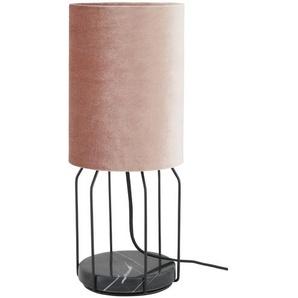 SCHÖNER WOHNEN Tischleuchte, 1-flammig, Samt/ Rose´ ¦ rosa/pink Ø: 17