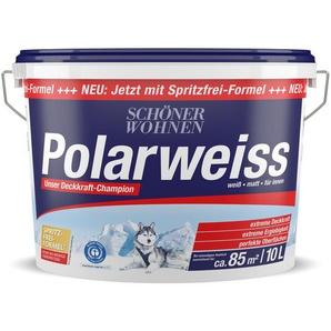 Schöner Wohnen Wandfarbe Polarweiss 10 l weiß