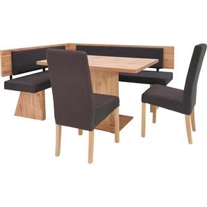SCHÖSSWENDER Eckbank Cologne, ist seitenverkehrt montierbar B/H/T: 177 cm x 87,5 145 cm, Baumwolle-Polyester braun Eckbänke Sitzbänke Stühle