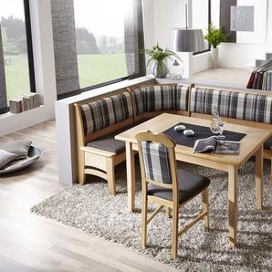 SCHÖSSWENDER Eckbank Tulln, umstellbar, mit Truhe H/T: 88,5 cm x 45 cm, Polyester grau Eckbänke Sitzbänke Stühle