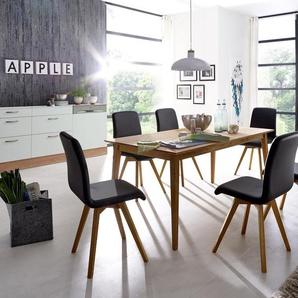 SCHÖSSWENDER Tischgruppe mit Stuhl »Filippa«, braun, FSC®-zertifiziert