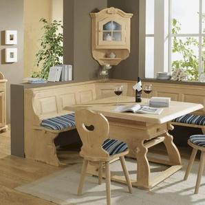 Schösswender Fichte Massivholz Eckbankgruppe Landau Edmonto blau / Bank 195x195 cm / Tisch 120x120 cm