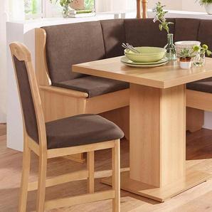 SCHÖSSWENDER Sitzbank Köln, Eckbank klein ist umstellbar, mit Truhe Polyester beige Eckbänke Sitzbänke Stühle