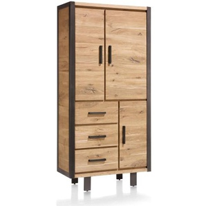 Schrank Brooklyn 37142 in Eiche Furnier/railway brown