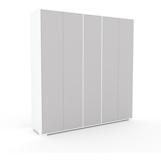 Schrank Hellgrau - Moderner Schrank: Türen in Hellgrau - Hochwertige Materialien - 190 x 196 x 47 cm, Selbst zusammenstellen
