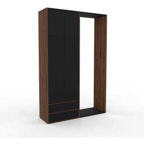 Schank Schwarz - Moderner Schrank: Schubladen in Schwarz & Türen in Schwarz - Hochwertige Materialien - 152 x 233 x 47 cm, konfigurierbar