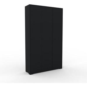 Schrank Schwarz - Moderner Schrank: Türen in Schwarz - Hochwertige Materialien - 116 x 196 x 35 cm, Selbst zusammenstellen