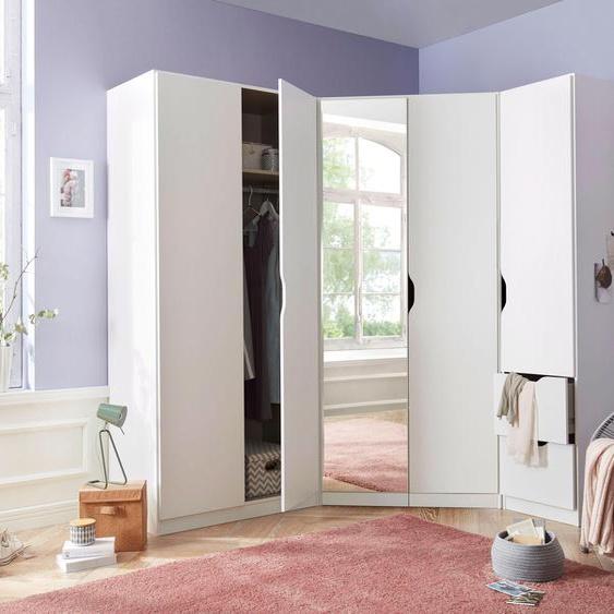 Schrank-Set  »Freiham«, weiß, rauch BLUE, Pflegeleichte Oberfläche, mit Schubkästen
