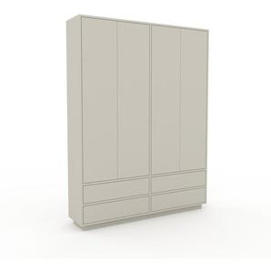 Schank Nebelgrün - Moderner Schrank: Schubladen in Nebelgrün & Türen in Nebelgrün - Hochwertige Materialien - 152 x 200 x 35 cm, konfigurierbar