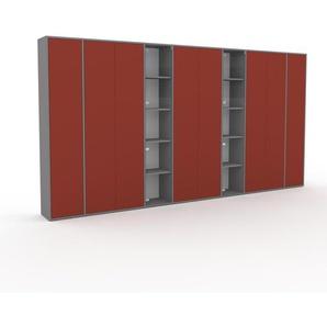 Schrank Puderrosa - Moderner Schrank: Türen in Puderrosa - Hochwertige Materialien - 380 x 195 x 35 cm, Selbst zusammenstellen
