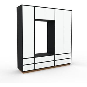 Schank Weiß - Moderner Schrank: Schubladen in Weiß & Türen in Weiß - Hochwertige Materialien - 190 x 200 x 47 cm, konfigurierbar