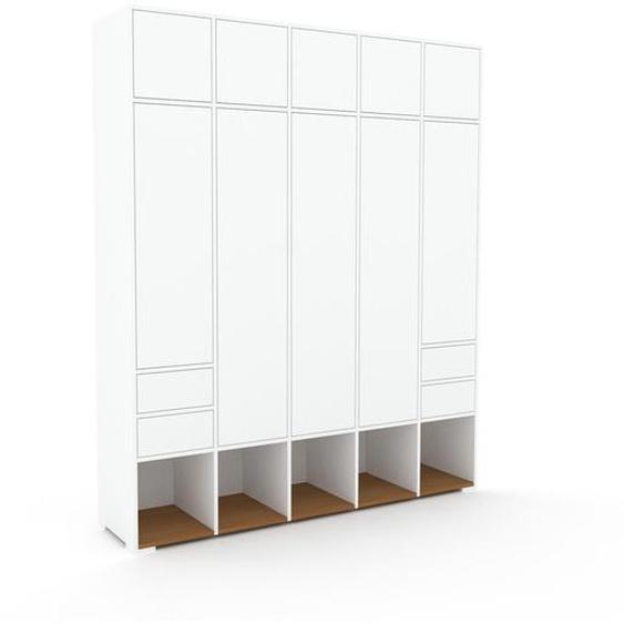 Schrank Weiß - Moderner Schrank: Schubladen in Weiß & Türen in Weiß - Hochwertige Materialien - 195 x 235 x 47 cm, konfigurierbar