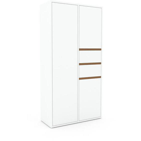 Schrank Weiß - Moderner Schrank: Schubladen in Weiß & Türen in Weiß - Hochwertige Materialien - 79 x 157 x 35 cm, konfigurierbar