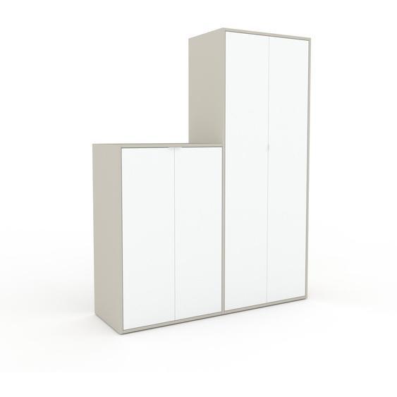 Schrank Weiß - Moderner Schrank: Türen in Weiß - Hochwertige Materialien - 152 x 195 x 47 cm, Selbst zusammenstellen