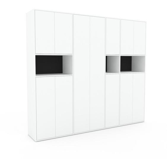Schrank Weiß - Moderner Schrank: Türen in Weiß - Hochwertige Materialien - 265 x 234 x 47 cm, Selbst zusammenstellen