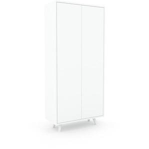 Schrank Weiß - Moderner Schrank: Türen in Weiß - Hochwertige Materialien - 77 x 168 x 35 cm, Selbst zusammenstellen