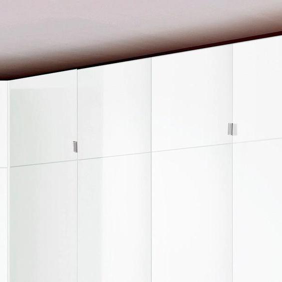 Schrankaufsatz Madrid 140x54x43 cm, weiß Zubehör für Kleiderschränke Möbel Möbelaufsätze