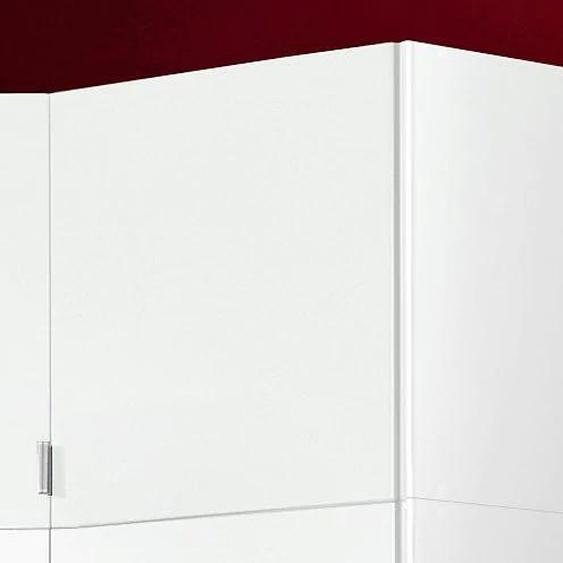 Schrankaufsatz Madrid 48x54x43 cm, weiß Zubehör für Kleiderschränke Möbel Möbelaufsätze