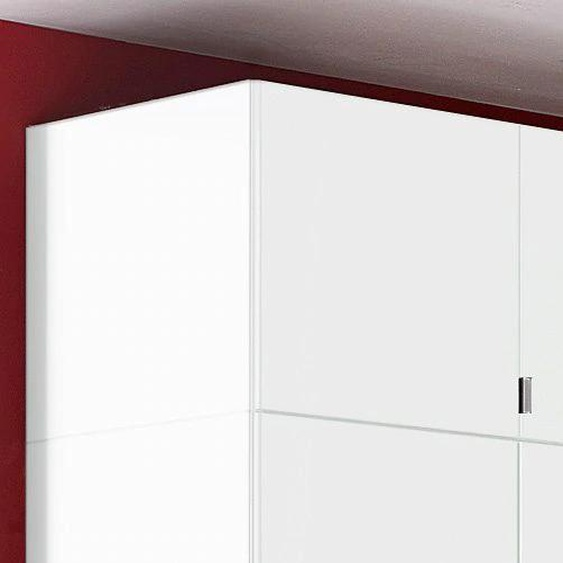 Schrankaufsatz Madrid 94x54x43 cm, weiß Zubehör für Kleiderschränke Möbel Möbelaufsätze