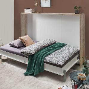 Schrankbett Tonoas, weiß, 90x200 cm