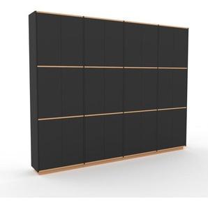Schrankwand Anthrazit - Moderne Wohnwand: Türen in Anthrazit - Hochwertige Materialien - 301 x 239 x 35 cm, Konfigurator