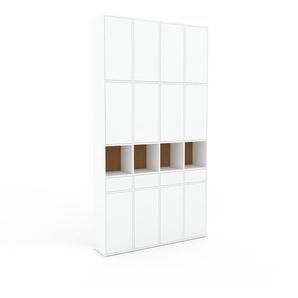 Schrankwand Weiß - Moderne Wohnwand: Schubladen in Weiß & Türen in Weiß - Hochwertige Materialien - 156 x 291 x 35 cm, Konfigurator