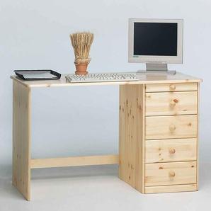 Schreibtisch aus Kiefer Massivholz 120 cm