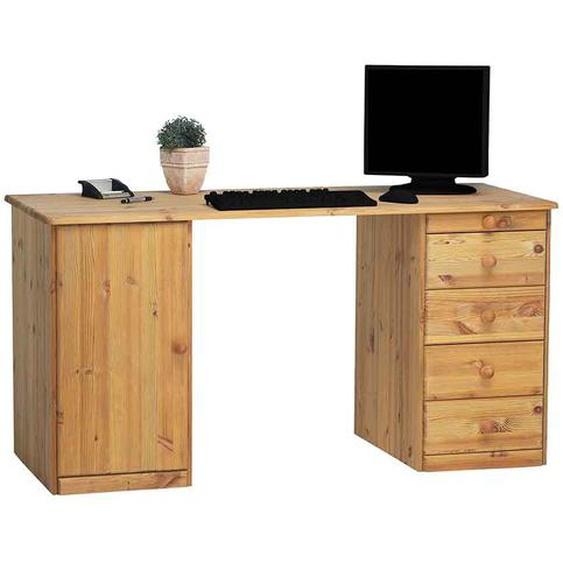Schreibtisch aus Kiefer Massivholz 150 cm