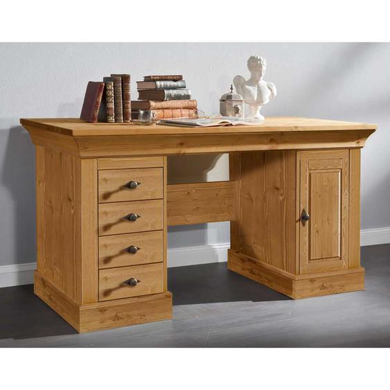 Schreibtisch aus Kiefer teilmassiv Landhaus
