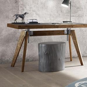 Schreibtisch Banvano höhenverstellbar, Akazie weiß