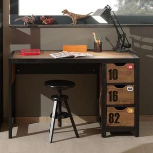 Schreibtisch Beli, Kiefer braun