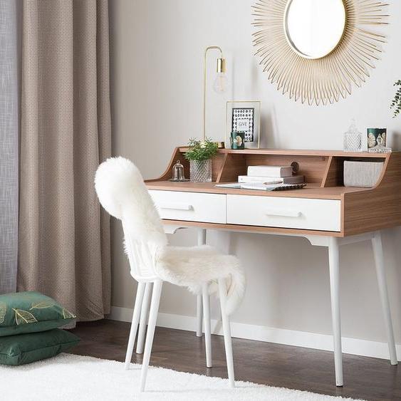 Schreibtisch braun / weiß 120 x 58 cm ALLOA