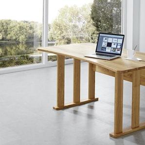 Schreibtisch Cosmo Wildeiche Massivholz 160x90cm