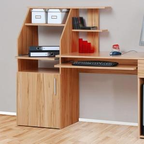 PC-Schreibtisch mit Tastaturauszug, braun, »Don«, mit Schubkästen,