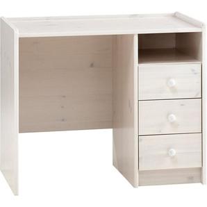 Schreibtisch, weiß, FSC-Zertifikat, , , mit Schubkästen, FSC®-zertifiziert, STEENS