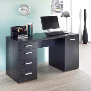 Schreibtisch in Schwarz Esche Büro
