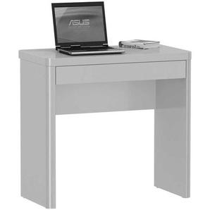 Schreibtisch in Weiß Hochglanz 80 cm breit