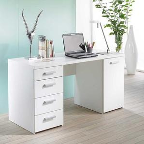 Schreibtisch in Wei� 145 cm