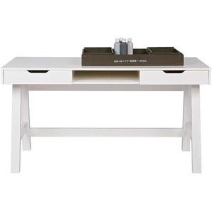 Schreibtisch in Weiß lackiert Kiefer