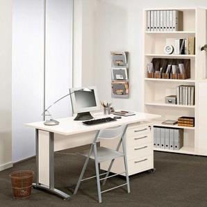 Schreibtisch in Weiß Rollcontainer