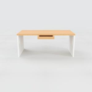 Schreibtisch Massivholz Buche - Moderner Massivholz-Schreibtisch: mit 1 Schublade/n - Hochwertige Materialien - 180 x 75 x 90 cm, konfigurierbar