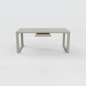 Schreibtisch Massivholz Grau - Moderner Massivholz-Schreibtisch: mit 1 Schublade/n - Hochwertige Materialien - 180 x 75 x 90 cm, konfigurierbar