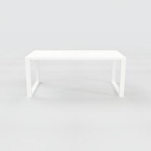 Schreibtisch Massivholz Weiß - Moderner Massivholz-Schreibtisch: Einzigartiges Design - 180 x 75 x 90 cm, konfigurierbar