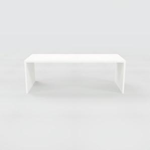 Schreibtisch Massivholz Weiß - Moderner Massivholz-Schreibtisch: Einzigartiges Design - 220 x 75 x 90 cm, konfigurierbar