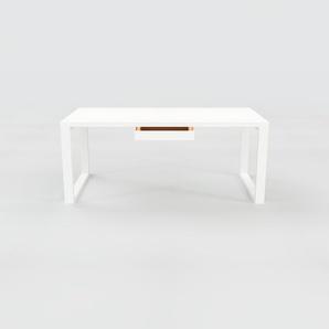 Schreibtisch Massivholz Symple   Weiß   Konfigurierbar