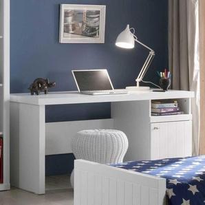 Schreibtisch mit Fach und Tür 150 cm breit