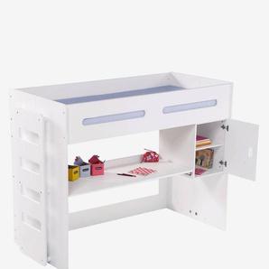 Schreibtisch mit Regal Combibed weiß